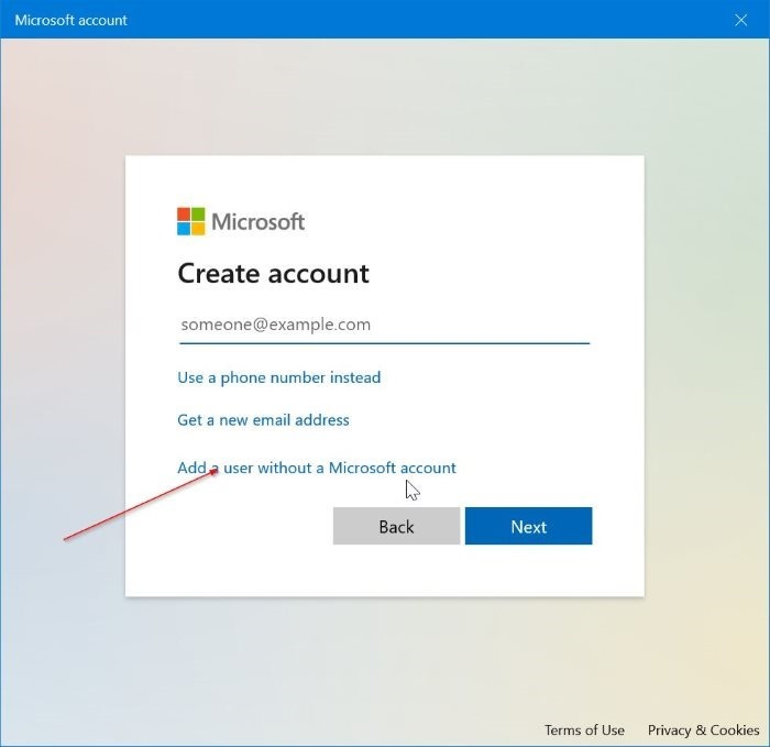 create local account without password in Windows 10 pic3