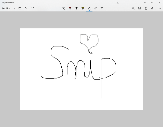 How to edit a caption with Snip & Sketch