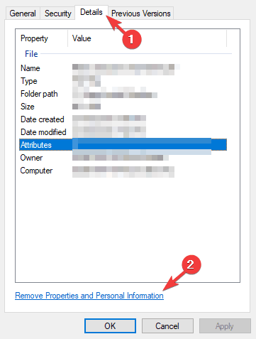 details tab Adobe Reader access denied when opening PDF