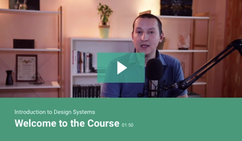 Screenshot of design systems web page
