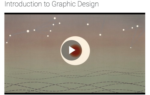 """Screenshot of """"introduction to graphic design"""" course"""
