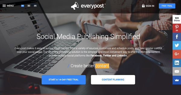 everypost social media management tool for small businesses