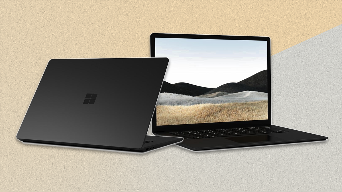 The Surface Laptop 4 in black.