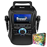 Image of Mr Entertainer Megabox Portable Karaoke Machine with Screen. CDG/DVD/MP3G/USB. Includes 200 Song Family Party Pack and 2 Microphones (Wired Microphones)