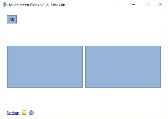 Multiscreen Blank is a free multi-monitor tool that places an overlay to blank, dim or mirror the screen