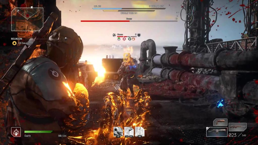 Outriders Boss Fight