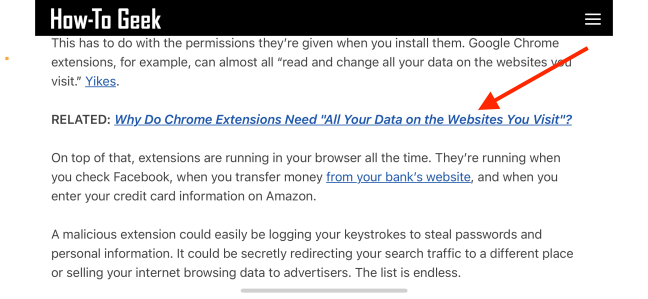Tap and Hold Link in Safari