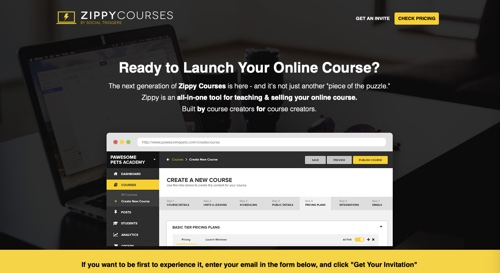 Home page of Zippy Courses