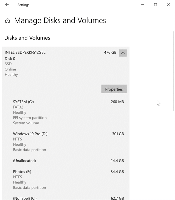 check if a drive is GPT or MBR in Windows 10 pic10