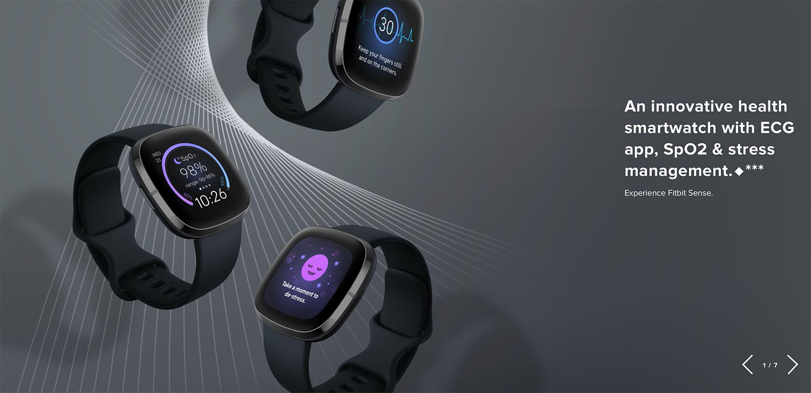 Fitbit smartwatch page, focused on medical data.