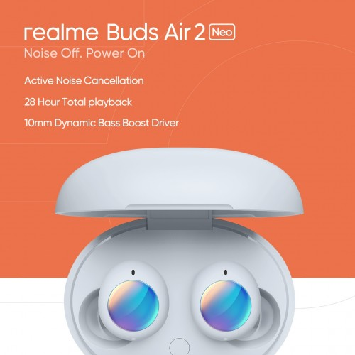 Realme Buds Air 2 Neo TWS earphones are coming on April 7 with Active Noise Cancellation