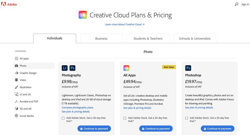 How to get photoshop on Mac: Pricing