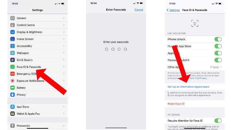 How to add a second face to Face ID: Settings
