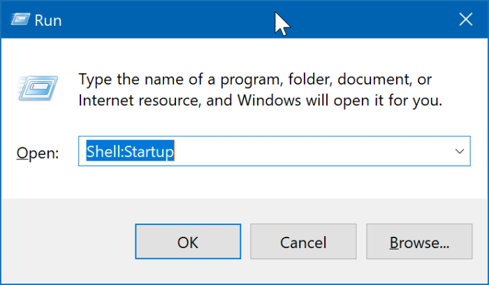 location of startup folder in Windows 10 pic2