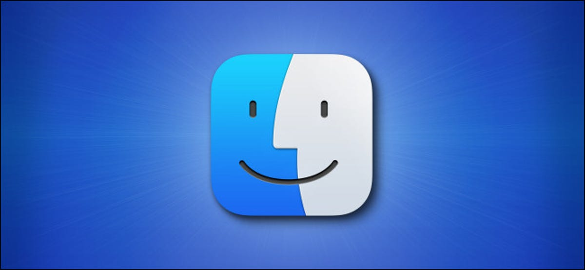 The Apple Mac Finder Big Sur icon on a blue background