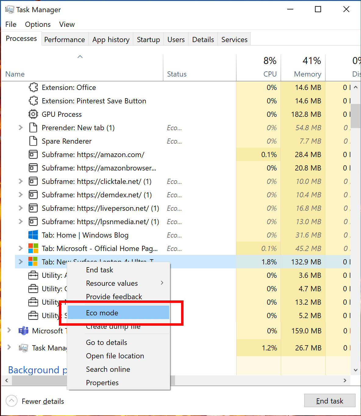task manager eco