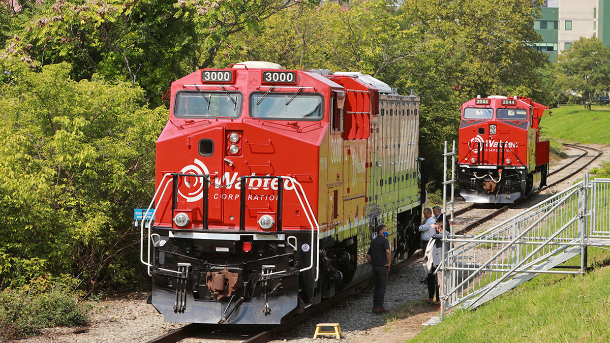 The Wabtec FLXdrive battery-electric freight train.