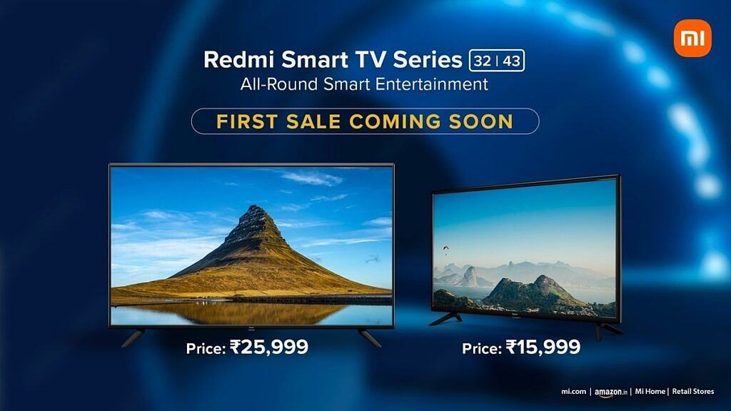 Redmi TV 32 and Redmi TV 43 shown side by side