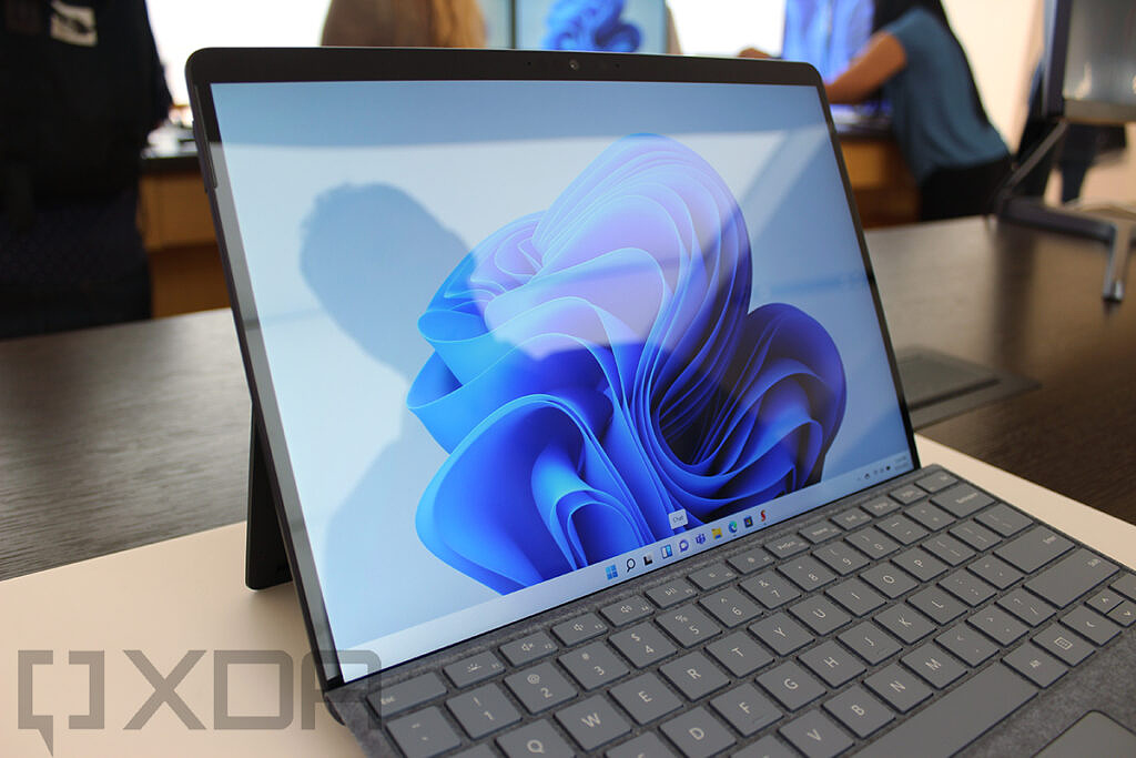 Close up of Surface Pro 8 screen