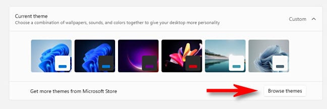 """Click """"Browse Themes."""""""