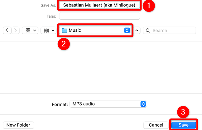 Save a song from the SoundCloud site.