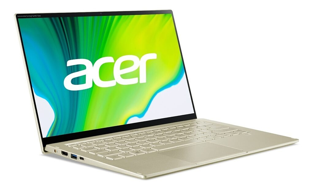 Acer Swift 5 left angle view with lid open