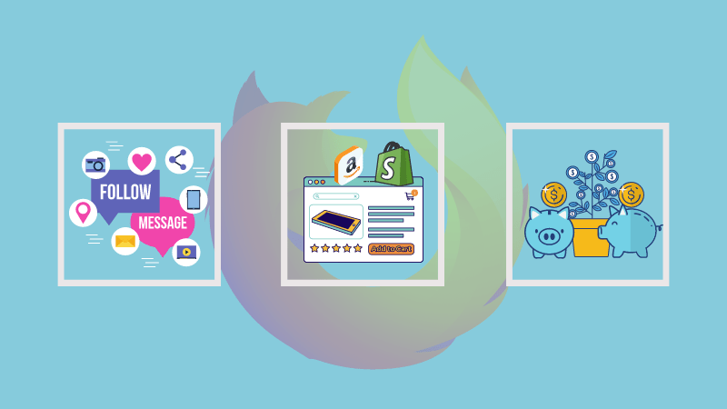 Illustration of containers in Firefox