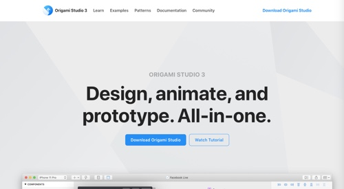 Home page of Origami Studio