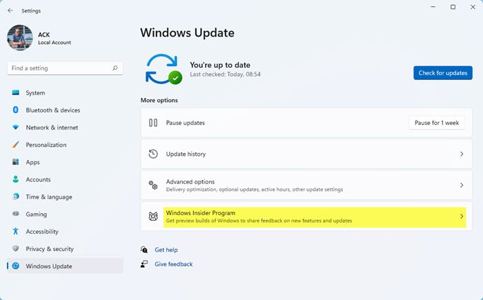 Switch from Insider Preview to Stable Build of Windows 11