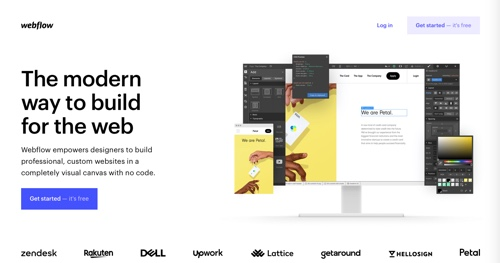 Home page of Webflow