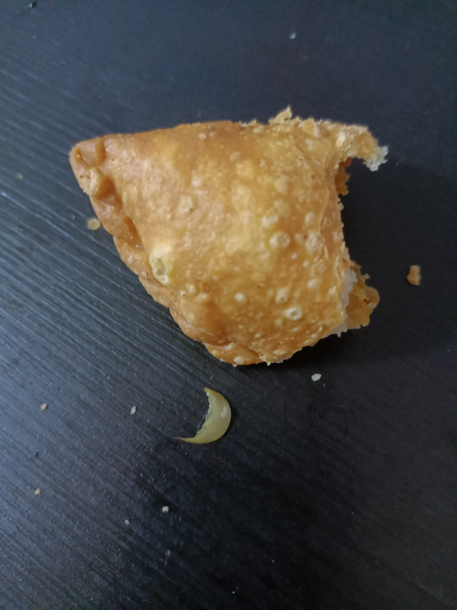 Extra ingredient found in woman's curry puff.
