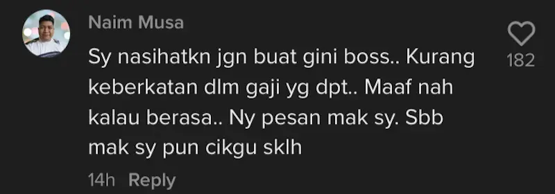 Dont be like this - netizen questioned