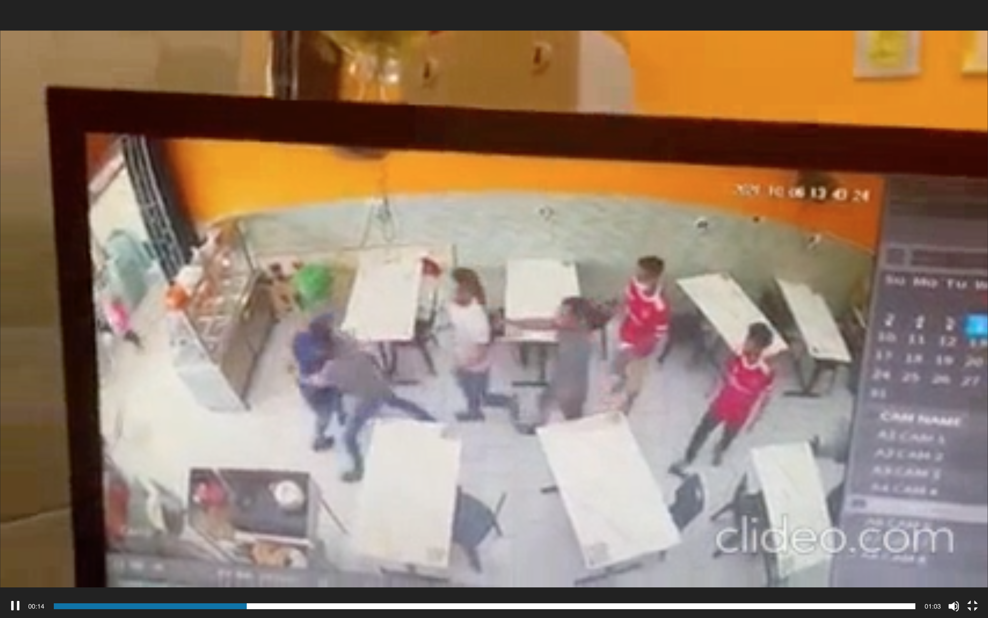 Other diners at the restaurant further assisted the staff and hauled the man outside of the store.