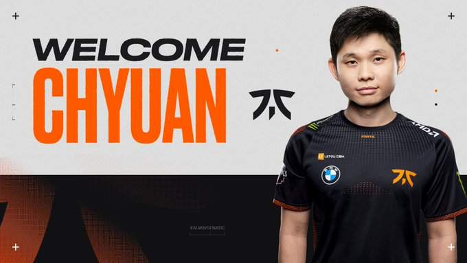 Based in malaysia, chyuan currently plays for fnatic