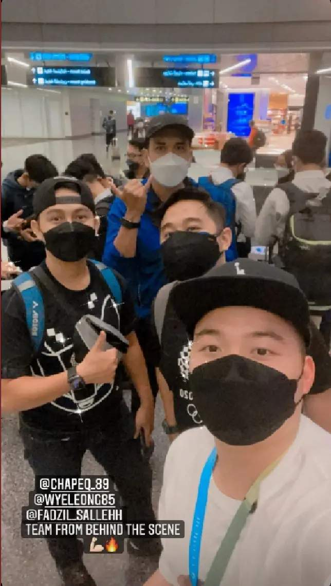 Aaron chia with the malaysia team ready to set off instagram story