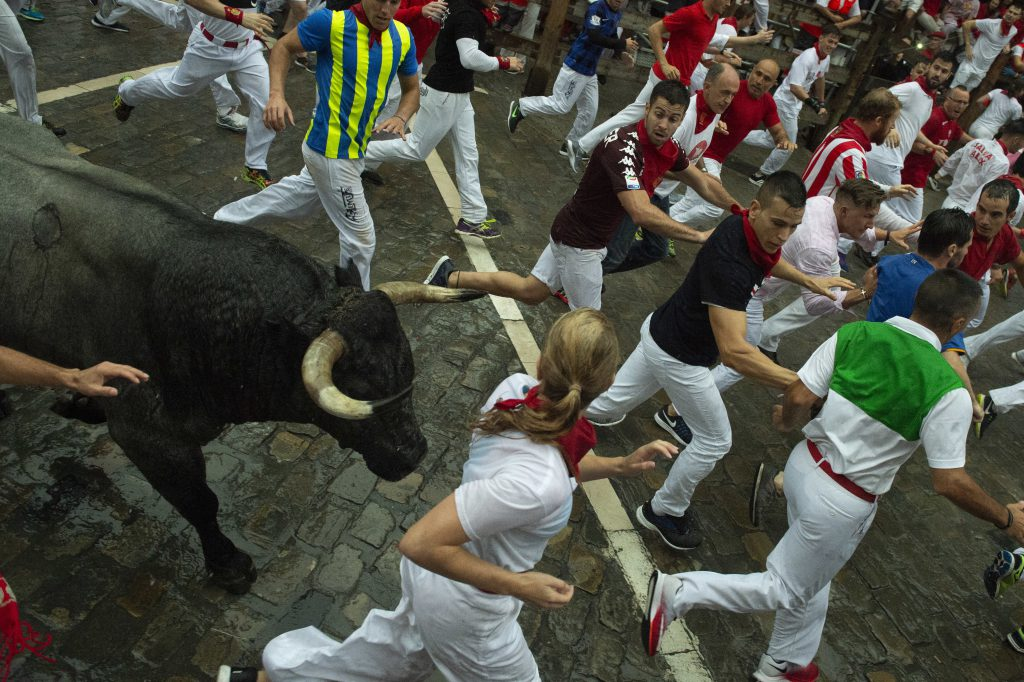 Pamplona bull running top10 extreme sports