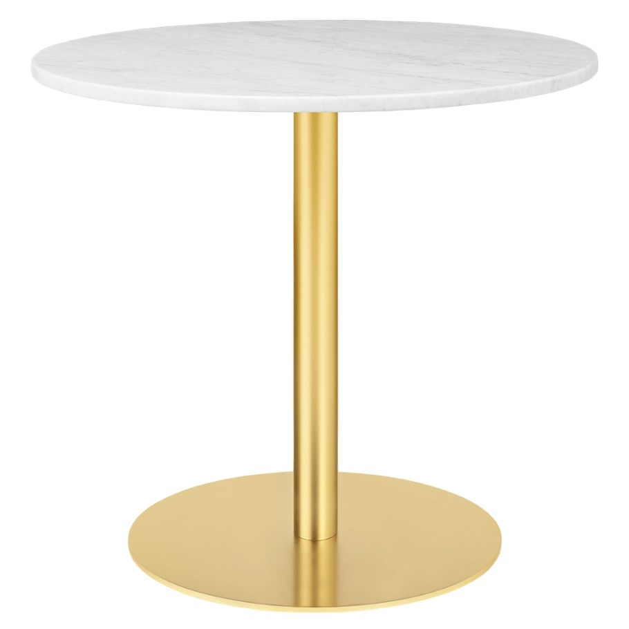 1.0 Round Dining Table – White Marble, Brass – Rouse Home with regard to Round Marble Dining Table