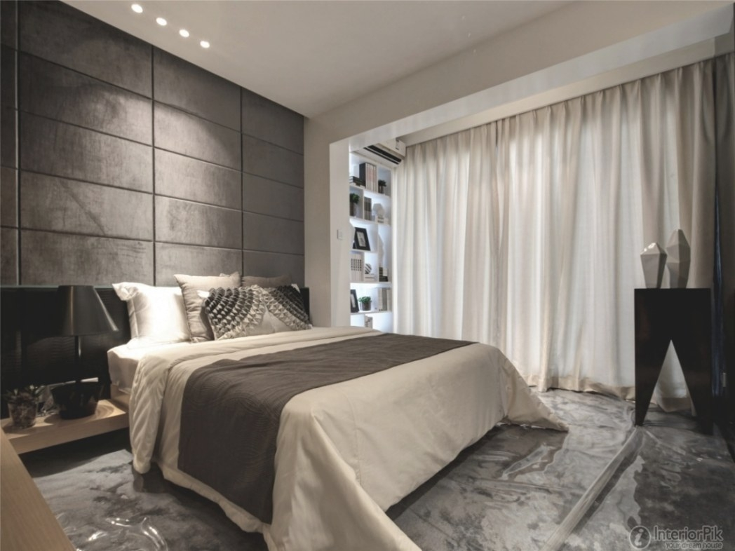 1 Bedroom Apartment Interior Design Ideas, Modern Bedroom throughout Curtain Designs For Bedroom