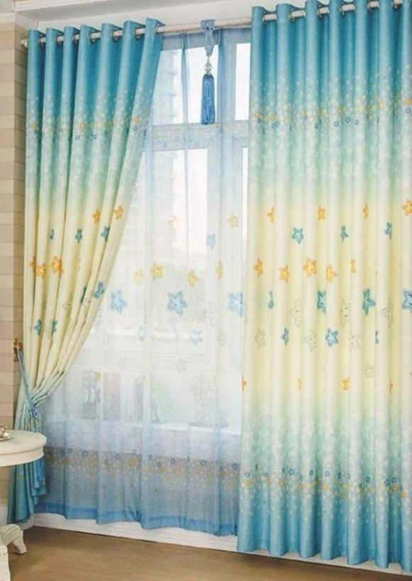 10 Awesome Colorful Kid's Bedroom Curtain Design - Rilane with Curtain Designs For Bedroom