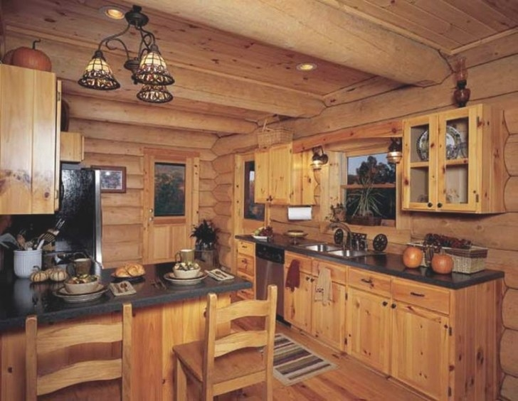 10 Rustic Kitchen Designs With Unfinished Pine Kitchen for Rustic Kitchen Ideas For Small Kitchens