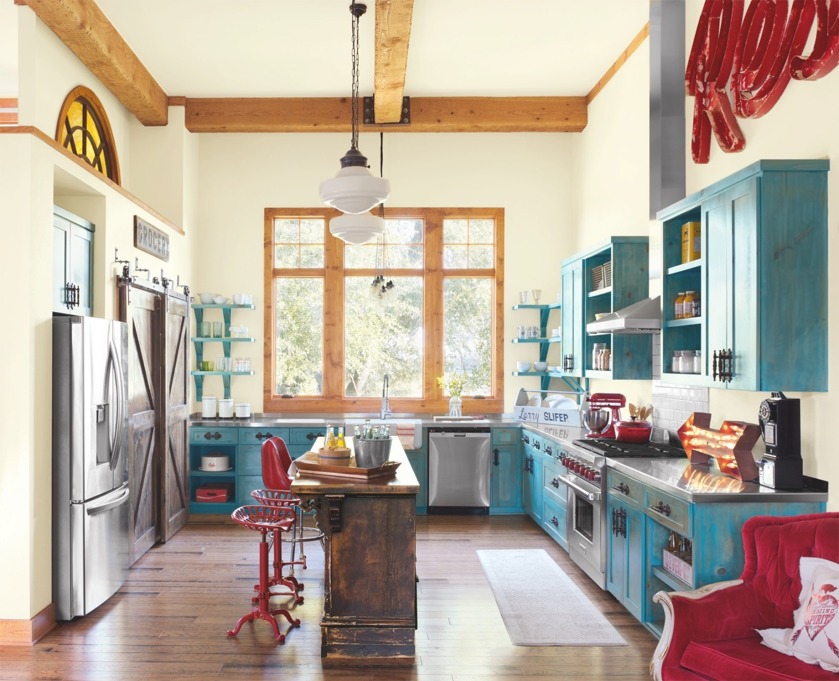 10 Ways To Add Colorful Vintage Style To Your Kitchen within Yellow And Turquoise Kitchen
