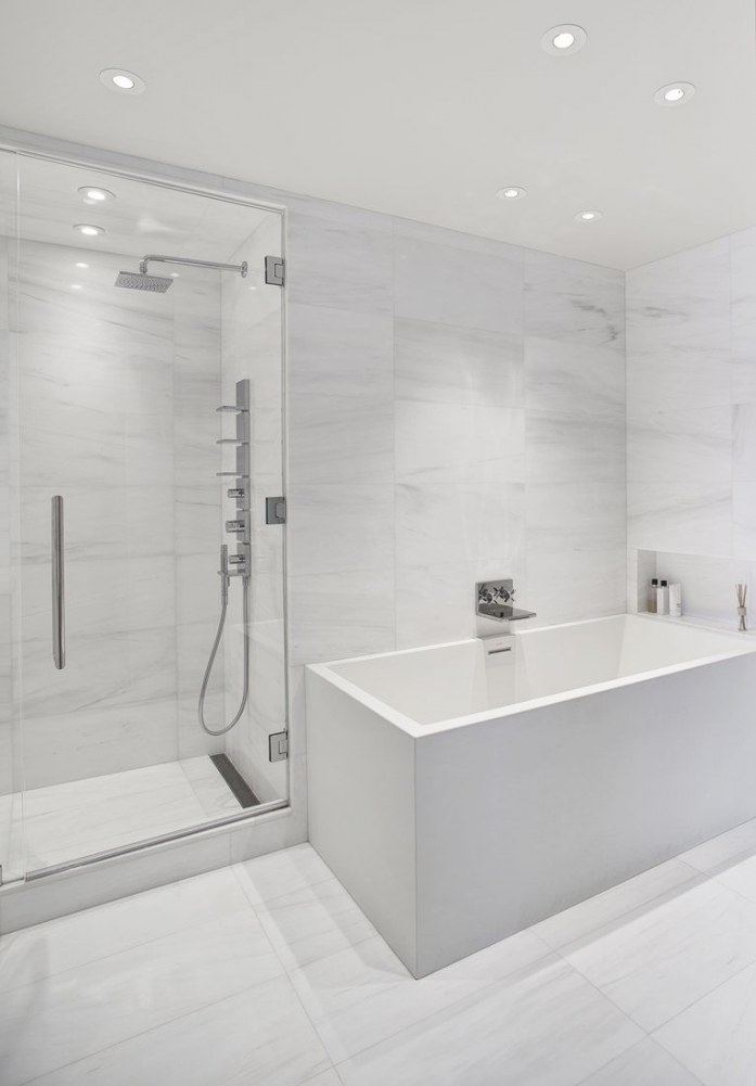 140 Charles Street Nyc, New York #Bathroom #Newyork # throughout Small White Tiles For Bathrooms