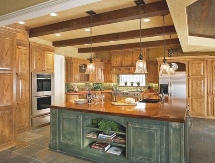 15 Rustic Kitchen Designs With Exposed Roof Beams - Rilane regarding Rustic Kitchen Ideas For Small Kitchens