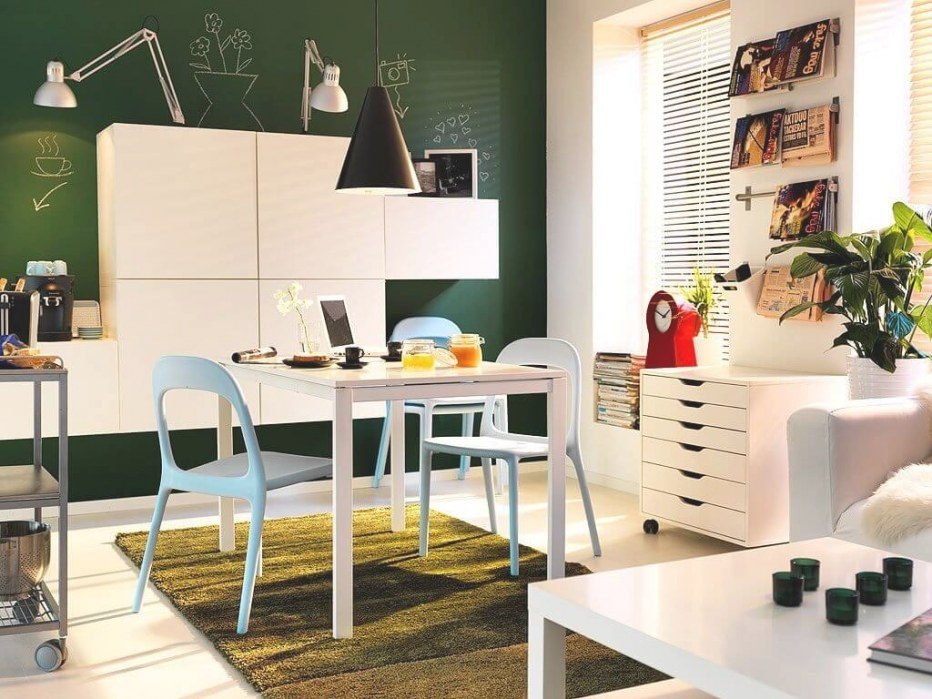 17 Decorating Ideas For Small Spaces – Apartment Geeks in Small Dining Room Ideas