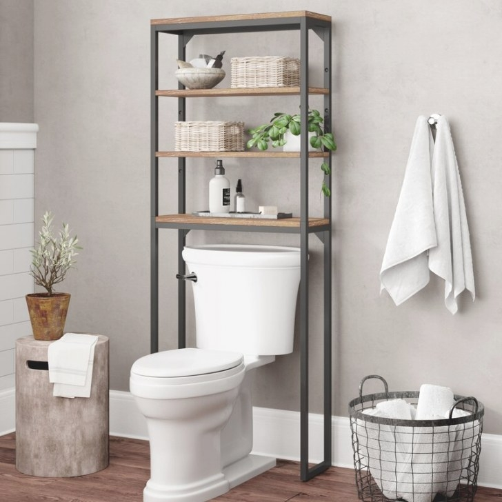"""17 Stories Eckles 25"""" W X 64"""" H Over The Toilet Storage in Over The Toilet Storage"""
