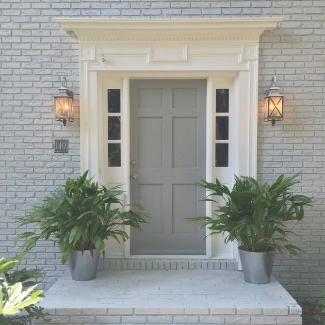 1940S Brick Color Combination - Google Search | House with Sherwin Williams Gray Screen