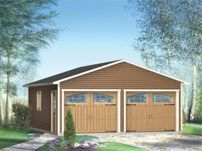 2-Car Garage Plans   Two-Car Garage Plan Available In 6 throughout How Big Is A 2 Car Garage
