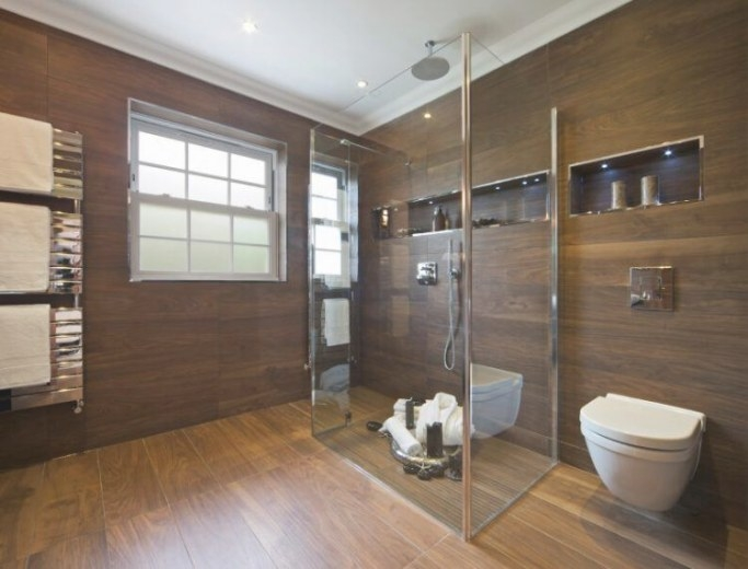 20 Amazing Bathrooms With Wood-Like Tile within Wood Look Tile In Bathroom