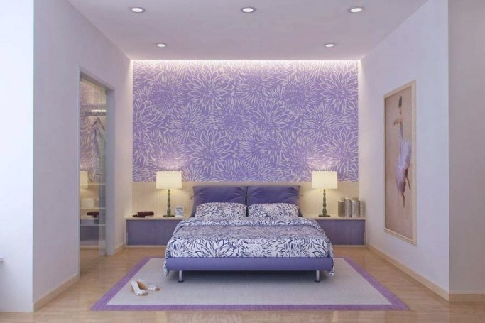 20 Beautiful Purple Accent Wall Ideas for Purple Accent Wall Bedroom