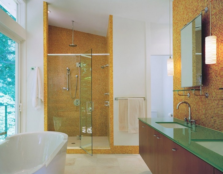 20 Contemporary Bathrooms With Vaulted Ceiling | Home regarding 3/4 Bathroom Layout